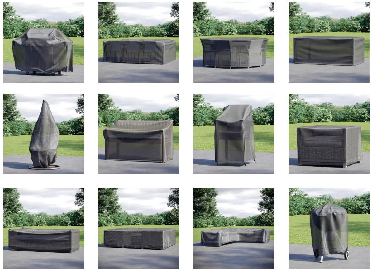 Чохли для вуличних меблів: варіанти застосування